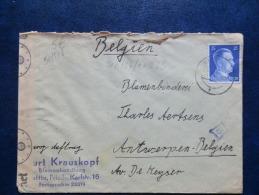 50/518    LETTRE. .POUR LA BELG.CENSURE  TIMBRES HITLER - Briefe U. Dokumente