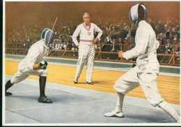 Olympia 1932 Los Angeles Werk 6 Nr. 142 Gruppe 22 Säbelfechten G. Gaudini Italia - Escrime