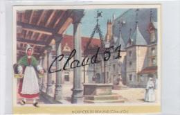 Buvards Sur Le Patrimoine Français;Hospices De Beaune (21) Et Folklore - Buvards, Protège-cahiers Illustrés