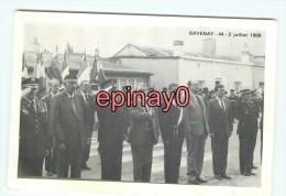 B - 44 - SAVENAY - Cérémonies Commémoratives De La Présence Américaines Le 2 Juillet 1988 - Militaria - - Savenay