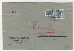 Berlin Michel No. 66 gestempelt used auf Brief / seitlich und hinten eingerissen