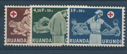 RUANDA URUNDI 1957 ISSUE COB 202/204 MNH - 1948-61: Neufs