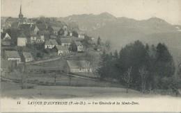 27Ro  63 Latour D'Auvergne Vue Generale Et Les Monts Dorés (vue Pas Courante) - France