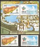 SEVILLA'92 - CHILE 1992 - Yvert #1108/09+H40 - MNH ** - 1992 – Siviglia (Spagna)