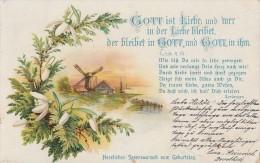 Geburtstagskarte Gott Ist Liebe ..... Gelaufen 12.2.07 - Geburtstag