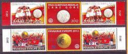 Montenegro 2012 Y Sport Handball European Championship Olympics Medal SLS With Labels MNH - Montenegro