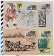 DDR Maximumkarte Michel No. 3354 - 3357 / MK 5 - 8 / 90