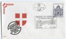 Conference POST Und Telegrafen, WIEN, Austria, 1972. FDC - Post