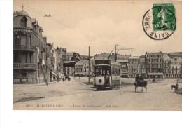 80----MERS-LES-BAINS---la Place De La Prairie-( Tramway )--voir 2  Scans - Mers Les Bains