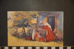 CP, Religion, Christianisme, Vierge Au Berceau Edition Prieur Et Dubois Puteaux 1900 - Virgen Mary & Madonnas