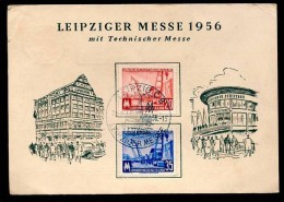FDC  Mi.  518 / 519 Leipziger Frühjahrsmesse 1956 - [6] Democratic Republic