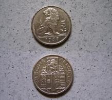 5 Francs 1938 Leopold III - Belgien                      (J124) - 1934-1945: Leopold III