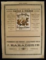 FABRIQUE D'HUILES D'OLIVE CAULE & FIRMIN Aix-en-Provence ( Bouches Du Rhône)  MARIE BRIZARD & ROGER Bordeaux 1894 - Publicités