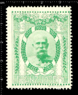 Old Original  Austrian Poster Stamp (cinderella, Reklamemarke) Franz Joseph Of Austria WW I Emperor Royal History Kaiser - Familias Reales