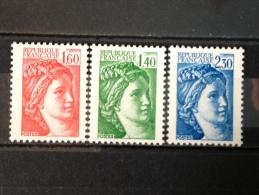 FRANCE YT 2154.2155.2156. Sabine.  Neuf**TB. 1981. Côte 3.90€ - 1977-81 Sabine (Gandon)