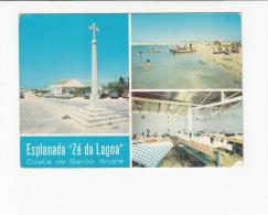 Portugal Cor 24398 - SANTIAGO DO CACÉM - LAGOA DE SANTO ANDRÉ ESPLANADA  ZÉ DA LAGOA OLD CARS AUTOMOBILES VOITURES OPEL - Setúbal