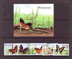 S AHARA 1999 PAPILLONS  YVERT N° OBLITERES - Papillons