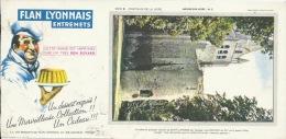 Buvard Publicitaire - FLan LYONNAIS, Entremets - Série: Château De La Loire - Château D'Usse ( 21 / 10,50 Cm ) - Cake & Candy