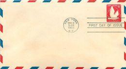 USA  -  Intero Postale  -  Stationery   -  Air Mail  6c. - 1941-60
