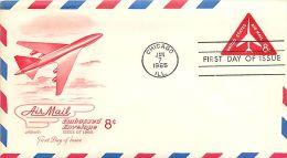 USA  -  Intero Postale  -  Stationery   -  Air Mail  8c. - Postal Stationery