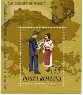 ROMANIA 1980 OLD MAP BUREBISTA STAMP DAY MI # BL173 MNH - 1948-.... Republiken