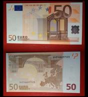 ITALIA ITALY 50 EURO 2002 TRICHET SERIE S 43166697523 J072A3 FDS UNC - EURO