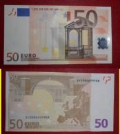 ITALIA ITALY 50 EURO 2002 TRICHET SERIE S 43086699988 J072A4 FDS UNC - 50 Euro