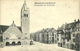 MANNHEIM-LINDENHOF     KIRCHENPLATZ UND WINDECKSTR - Mannheim