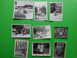 Lot De Photos D´enfants Jouant-charrette-landeau- Dinette-patinette-seau Etc...._ - Photos