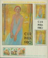 ERINNOFILO IPZS EURPHILA 1980 PRESENTAZIONE UFFICIALE CASTELLI D'ITALIA - Erinnofilia
