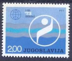 YU 1973-1518 WELMEISTERSCHAFT IN SCHWIMMEN, YUGOSLAVIA. 1v, MNH - Natation
