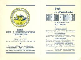 Kalender 1957 - Pub. Reclame Drukkerij Standaert Maldegem - Calendriers