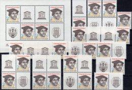 Hamburg Expo Nordposta 1983 CSSR 2701,9xZD,3VB+Block 56 ** 110€ Luther Philatelic Bloc Wap Se-tenant Bf Tschechoslowakei - Stamps