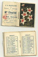 1934 - 2  PETITS CALENDRIERS De La MAISON CHAPITEL - TEINTURES A PARIS  -identiques - Klein Formaat: 1921-40