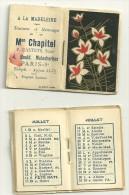 1934 - 2  PETITS CALENDRIERS De La MAISON CHAPITEL - TEINTURES A PARIS  -identiques - Calendari