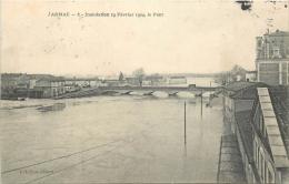 17-473  -  JARNAC   -  Inondation 19 Février 1904  Le Pont   Belle Carte - Jarnac