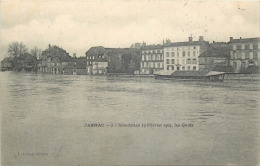 17-474  -  JARNAC   -  Inondation 19 Février 1904  Le S Quais   Belle Carte - Jarnac