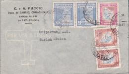 BOLIVIE - 1946 - ENVELOPPE AIRMAIL De LA PAZ Pour ZÜRICH (SUISSE) - POSTE AERIENNE - Bolivia