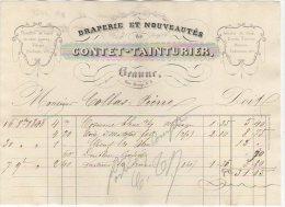 21 BEAUNE FACTURE 1848 DRAPERIE CONTET TAINTURIER   - JV34 - Kleding & Textiel