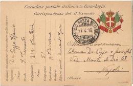 CARTOLINA POSTALE IN FRANCHIGIA - UFFICIO POSTA MILTARE 10 DIVISIONE - 1916 - War 1914-18