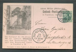 Frankfurt  Gedenk Postkarte Adam Miller 1907 (Del-1832) - Deutschland