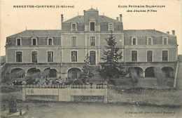 deux sevres -ref A362- argenton chateau - ecole primaire superieure des jeunes filles  -carte bon etat  -
