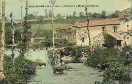 deux sevres -ref A361- argenton chateau -chutes du moulin de renou- theme moulins -carte toil�e   -carte bon etat  -