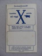 """Cartolina Curiosità """"SENSATIONELL!"""" Cartolina Coi Raggi X - Postale. Primi'900 - Cartoline"""