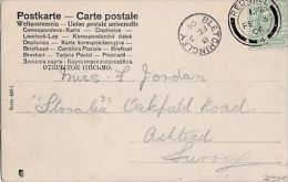 POSTAL HISTORY -1906 BLETCHINGLEY SINGLE CIRCLE CANCELLATION - Postmark Collection