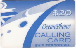 PUERTO RICO - Oceanphone By Teledebit Satelite Prepaid Card $20 Exp.date 31/12/99, Used - Puerto Rico