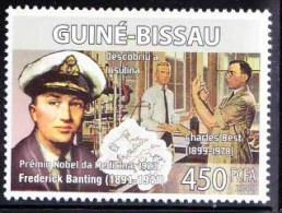 Guine Bi. MNH, Charles Best, Frederick Banting, Insulin Hormone, Nobel Medicine - Medicine