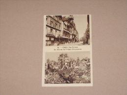 CPA Cpsm POSTCARD CALVADOS 14 CP CAEN V1930/45 ANIME RR VUE MULTIPLES RUE ST SAINT JEAN HOTEL D´ ANGLETERRE AVANT APRES - Caen