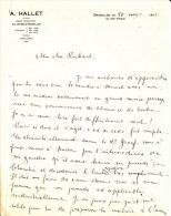 A. HALLET Banque / Bruxelles 1921 - Factures & Documents Commerciaux