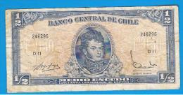 CHILE - 1/2 Escudo ND  P-134A  Serie D11 - Chile